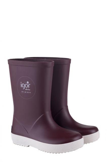 Igor---Regenstiefel-für-Kinder---Splash-Nautico---Burgunderrot