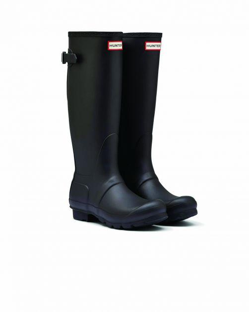 Hunter---Verstellbare-Regenstiefel-für-Damen---Originall-Tall---Schwarz