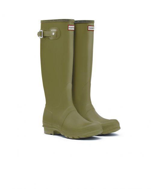 Hunter---Regenstiefel-für-Damen---Original-Tall---Olivgrün