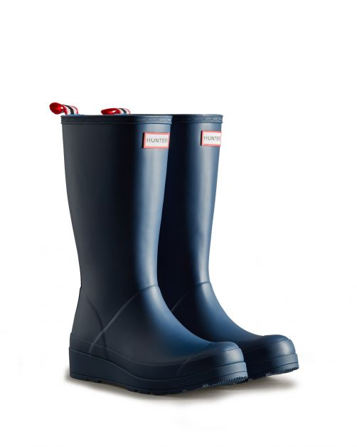 Hunter---Regenstiefel-für-Damen---Original-Play-Boots-Tall---Marineblau