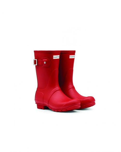Hunter---Regenstiefel-für-Damen---Original-Short---Rot