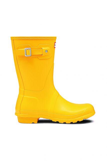 Hunter---Regenstiefel-für-Damen---Original-Short---Gelb