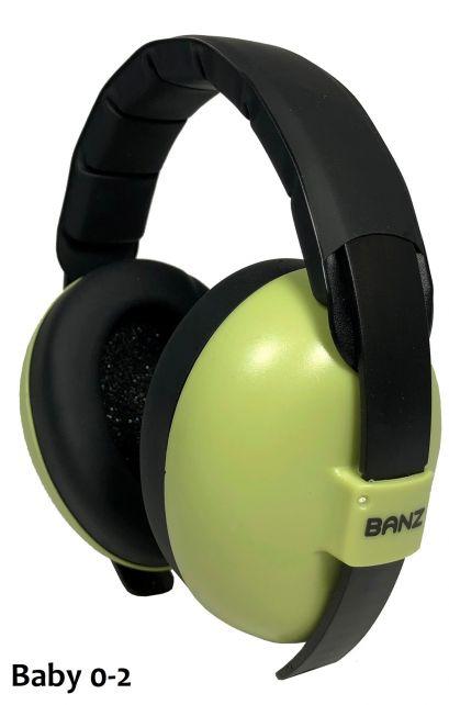 Banz---Geräuschreduzierende-Ohrenschützer-für-Babys---Blattgrün