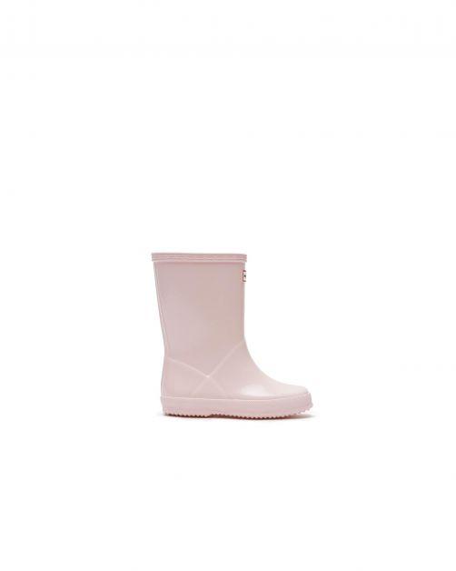 Hunter---Regenstiefel-für-Kinder---Kids-First-Classic-Gloss---Black-Salt-Pink